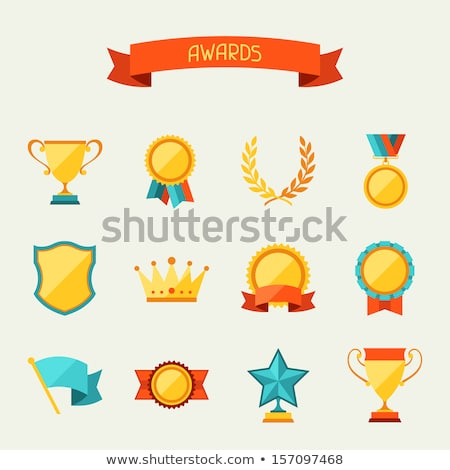 Zwycięstwo ikona projektu działalności szczęśliwy grupy ludzi Zdjęcia stock © WaD