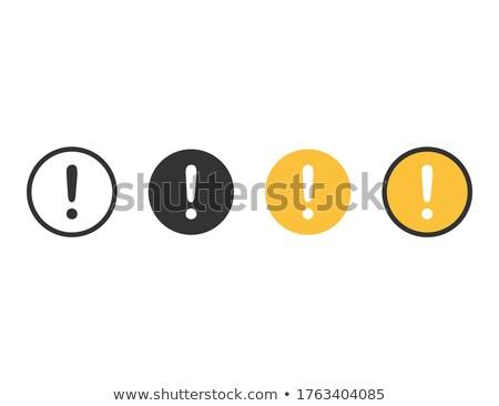Fout zwarte kleur vector icon symbool Stockfoto © ahasoft