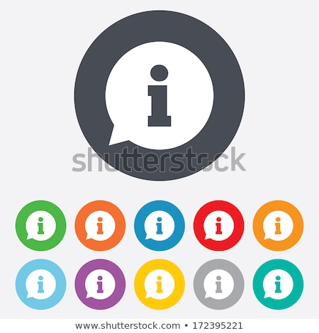 Information flat black color rounded vector icon Stock photo © ahasoft