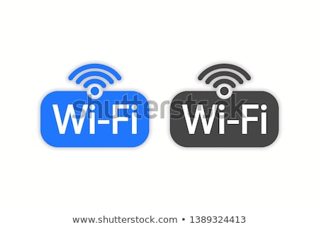 colorful symbol of Wi Fi  Stock photo © zven0