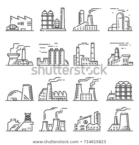 flat line factory illustration stock photo © yuriy