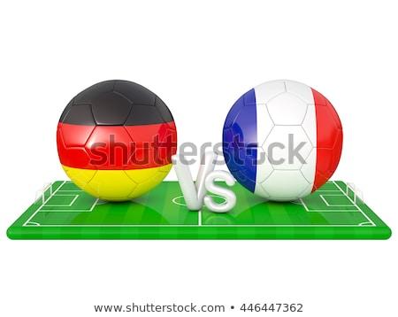 fútbol · fútbol · pelota · banderas · 3D - foto stock © oakozhan