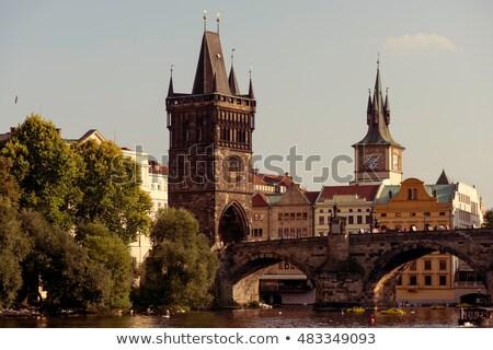 Charles bridge. Prague, Czech Republic. Color tone tuned Stock photo © Kirill_M