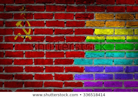 Gay Rainbow Wall USSR Flag Stock photo © Bigalbaloo