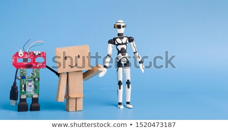 Robot made of metal Stock photo © bluering