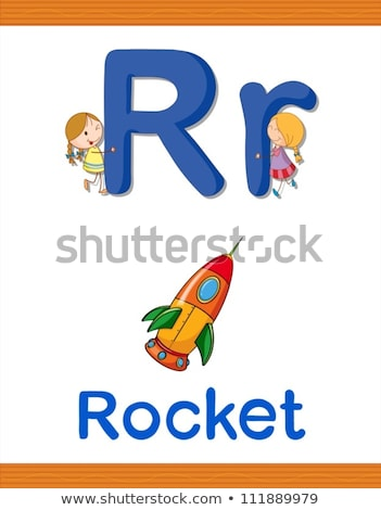 A letter R for rocket Stock photo © bluering