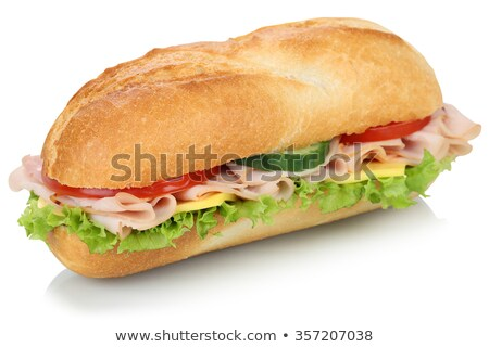 background of sandwiches with ham stock photo © artjazz