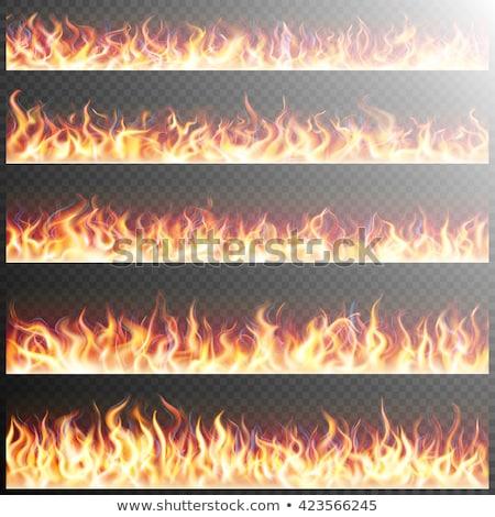 yangın · Alevler · ayarlamak · simgeler · gölge · kare - stok fotoğraf © beholdereye