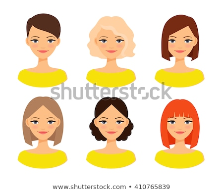 vector set of women's hairstyles Stock photo © Panaceadoll