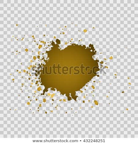 Gold brush paint stroke with rough edges on transparent gray bac Stock photo © cosveta