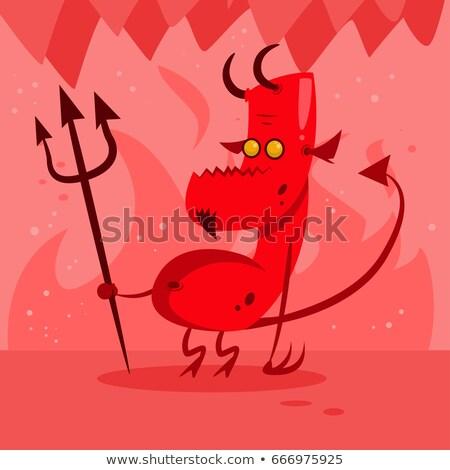 Diabo amarelo cara ilustração fundo Foto stock © bluering