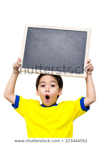 jongen · permanente · Blackboard · school · meisje · kind - stockfoto © deandrobot