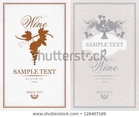 Two rectangle labels in red and white Stock photo © bluering