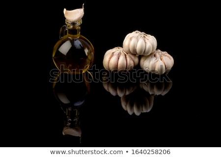 Köteg fekete fokhagyma izolált fehér étel Stock fotó © Klinker