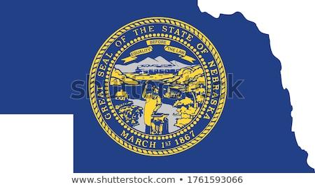 USA Nebraska zászló fehér 3d illusztráció textúra Stock fotó © tussik