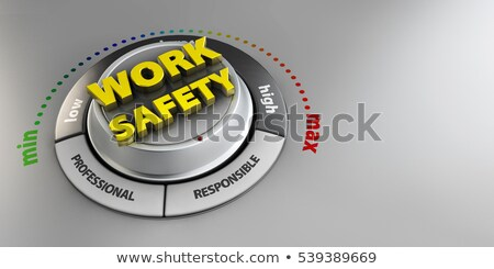 иллюстрация работу безопасности кнопки переключатель Сток-фото © tussik