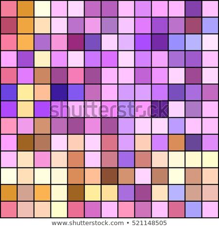Warm pastel colorsl mosaic square tiles illustration Stock photo © latent