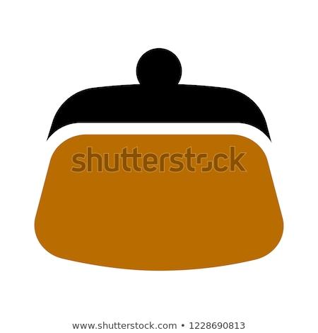 кошелька икона вектора изолированный белый Сток-фото © smoki