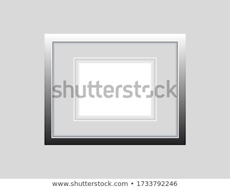 a4 paper photo icon horizontal Stock photo © romvo