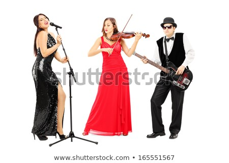 Káprázatos basszus játékos fotó gyönyörű fiatal Stock fotó © sumners