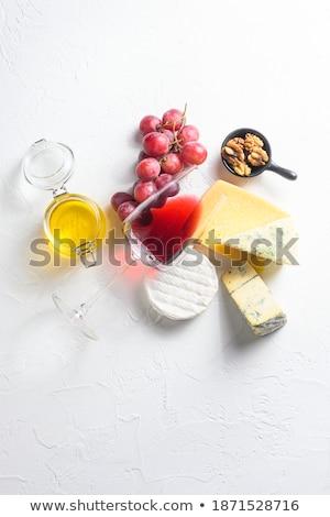 vinho · conjunto · vidro · vinho · branco · uva - foto stock © yatsenko