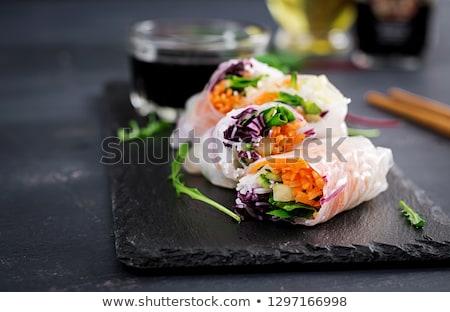 karides · pirinç · kâğıt · yer · fıstığı · sos - stok fotoğraf © user_11224430