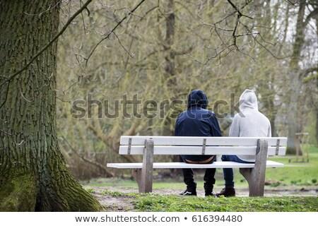 двое · мужчин · улице · улыбаясь · любви · отец - Сток-фото © diego_cervo
