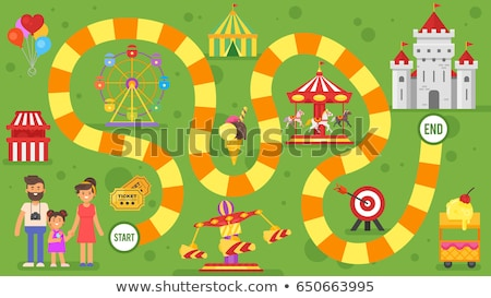 kids amusement park board game template. For print.  Stock photo © curiosity
