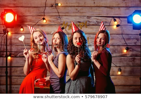 birthday party teens with gifts stock photo © godfer