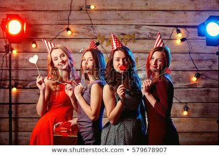 Fête d'anniversaire adolescents cadeaux fête enfants mode Photo stock © godfer