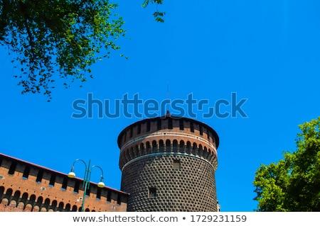 Милан · замок · Италия · лес · стены - Сток-фото © alessandro0770