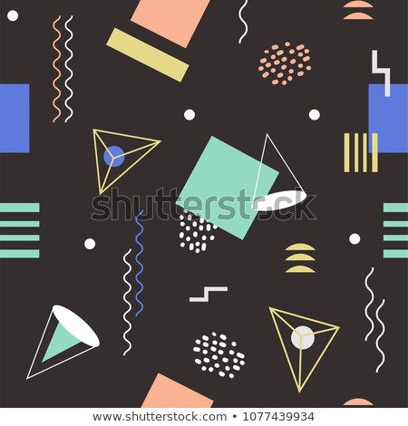 Bright seamless abstract geomertic pattern - modern material design background Stock photo © Decorwithme