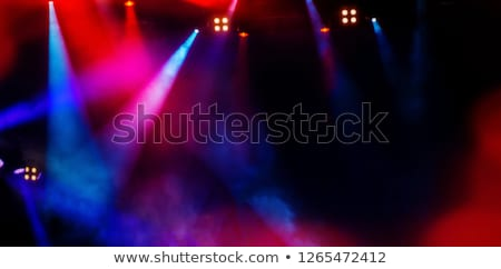blue stage light beam background Stock photo © magann