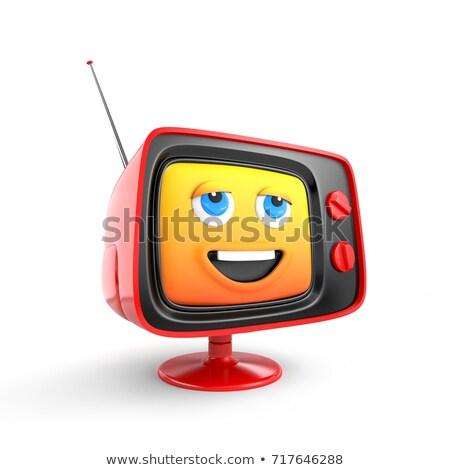 clásico · cara · sonriente · colores · amarillo · sonrisa · feliz - foto stock © rogistok