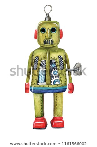 robot · kalp · çekicilik · 3d · render · sevmek · adam - stok fotoğraf © monarx3d