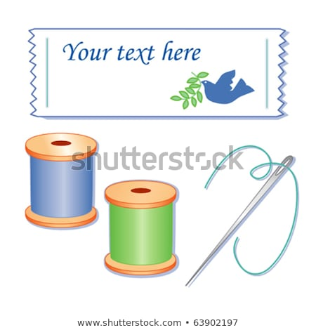 Bird Needle Thread Sewing Stock photo © lenm