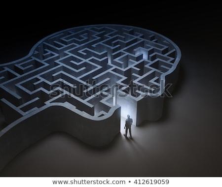head maze man thinks Stock photo © studiostoks