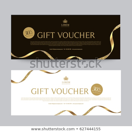 special black-gold ticket design Stock photo © place4design