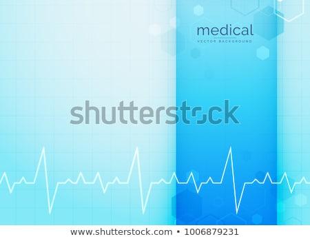 kék · orvostudomány · szívdobbanás · vonal · absztrakt · orvosi - stock fotó © sarts