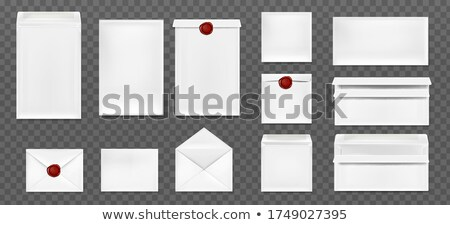 closed old red paper envelope stock photo © vapi