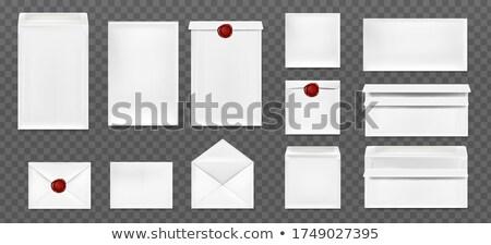 閉店 古い 赤 紙 封筒 孤立した ストックフォト © vapi