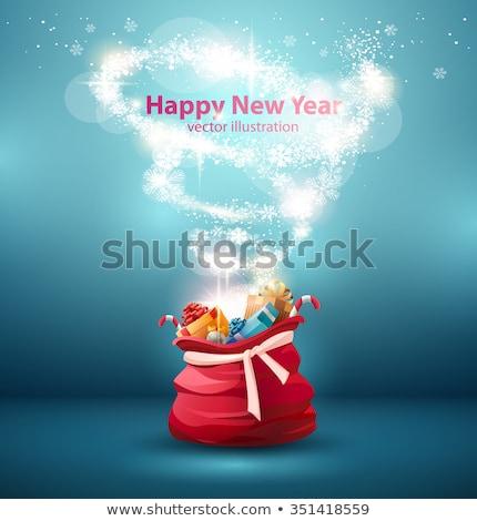 サンタクロース オープン ギフトボックス おめでとうございます 驚き クリスマス ストックフォト © popaukropa