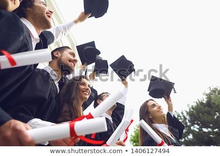 Diploma agglegény tükör repülőgép iskola oktatás Stock fotó © anyunoff