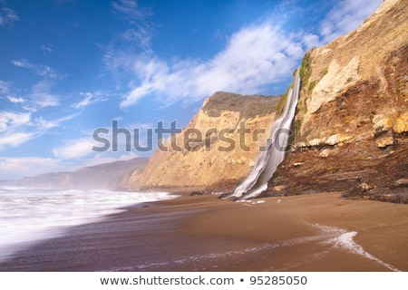 Foto stock: Ponto · praia · San · Francisco · Califórnia · EUA · nuvens