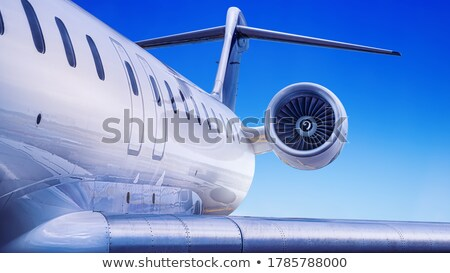 Business jet against the sun Stock photo © tracer
