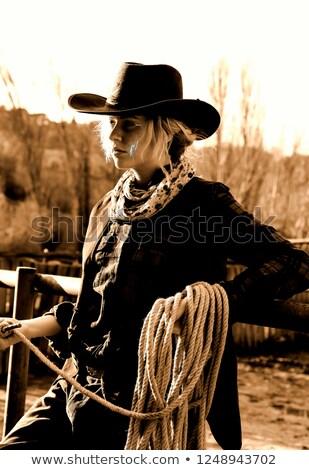 Stil portre seksi kadın amerikan giyim poz Stok fotoğraf © pressmaster