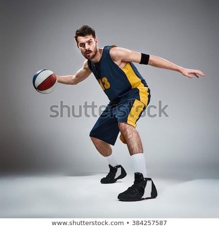 Basketball team posing Stock photo © IS2