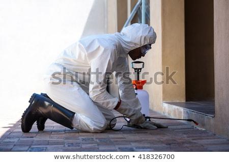 Man doing pest control on a wall Stock photo © wavebreak_media