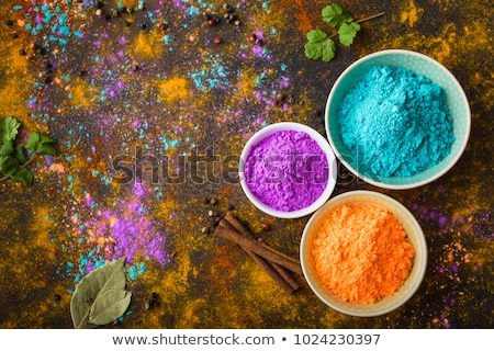 holi paint colors in plate with text Stock photo © romvo