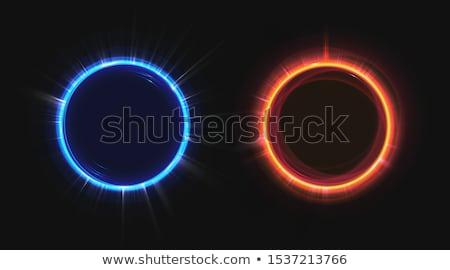 background of blue luminous rays Stock photo © OlgaYakovenko